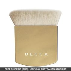 The One Perfecting Brush - Limited Edition Gold Color Best Makeup Brushes, Makeup Brush Set, Beauty Emporium, Makeup To Buy, Becca, Foundation, Gold, Set Of Makeup Brushes, Foundation Series