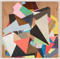 by Fiona Curran     The direction I needed to be going, 2009  acrylic on veneered wooden panel  380mm × 380mm