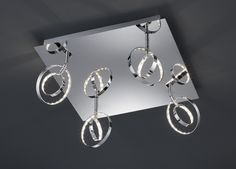 LED-Deckenlampe - chrom