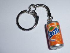 Fanta Orange Can Keychain by mixedupdolly on Etsy
