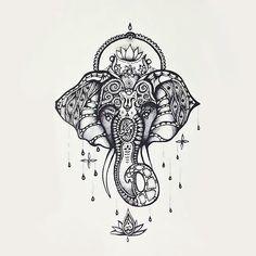 Wauw - this is my next tatoo :) drawing Illustration art jewelry beautiful patterns elephant animal tattoo flower ink africa pen ornate lotus detail mandala India hindu Ganesha swirls linework ballpoint fineliner Ganesh Tattoo, Et Tattoo, Tattoo Motive, Piercing Tattoo, Tattoo Drawings, Lotus Tattoo, Piercings, Sternum Tattoo, Mandala Tattoo