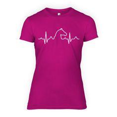 Paarden Hartslag - Dames T-Shirt Roze