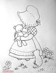 Diseños Redwork y Sunbonnet Sue Hand Embroidery Patterns, Quilt Patterns Free, Applique Patterns, Vintage Embroidery, Applique Quilts, Embroidery Applique, Embroidery Stitches, Machine Embroidery, Paper Embroidery