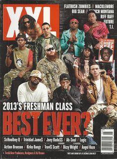 XXL magazine Freshman class ScHoolboy Z Trinidad James Joey Badass Ab Soul Logic