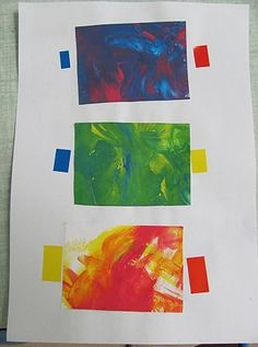 PSIC bataille de couleurs (collage de gommettes correspondant aux couleurs initiales !) Art Activities For Kids, Art For Kids, Projects For Kids, Art Projects, Montessori, Teaching Colors, Ecole Art, Art Plastique, Art School