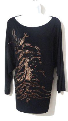 CABI Sequin Evening Career Top Shirt Blouse Over-Sized Casual Medium M #CABI #Blouse