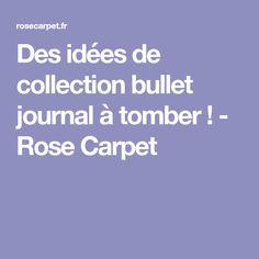 Des idées de collection bullet journal à tomber ! - Rose Carpet