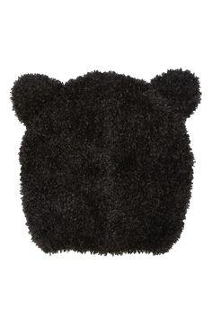 Primark - Black Novelty Ears Beanie