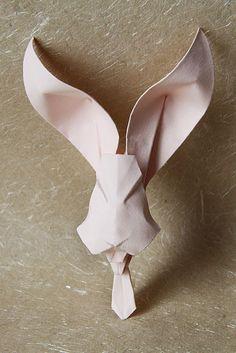 Origami rabbit with a tie by nyanko sensei
