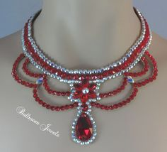 Ballroom Star and Pear Light Siam necklace
