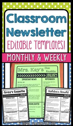 Newsletter Template  A Weekly Or Monthly Newsletter Cool Idea