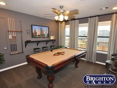 Attrayant #gameroom With Wall Mount Bar Shelves And Pool Table Easton Model Home |  Brighton Homes