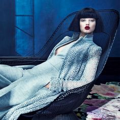 photocouture-show:  PHOTOGRAPHER: EMMA SUMMERTON MODELS: LIDSEY WIXSON & LEONA 'BINX' WALTON NEIMAN MARCUS – THE BOOK SEPTEMBER 2015 was originally published on PHOTOCOUTURE SHOW   Cool blue!