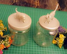 Cute Ideas for recycling jars //Decorating glass jars//Do it yourself! Glass Jars, Mason Jars, Recycled Jars, Foam Sheets, Bead Shop, Ceramic Pottery, Recycling, Projects To Try, Make It Yourself