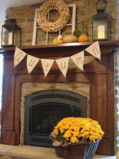 Fall Decor Ideas For Fireplace - Mbantool Fall Fireplace Decor, Fireplace Stores, Home Fireplace, Fireplace Design, Fireplace Decorations, Faux Fireplace, Fireplaces, Autumn Decorating, Porch Decorating