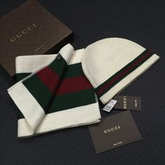 Gucci beanie scarf