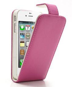 iPhone 4 4S Wallet Case Roze