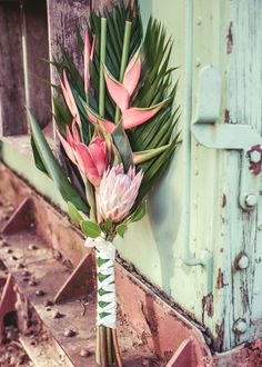Pink and Green Native Bouquet