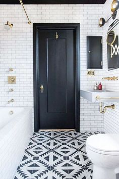 These Are the Chicest Tiny Bathrooms We've Ever Seen via @MyDomaine