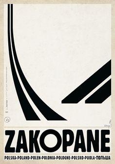 Zakopane, polski plakat turystyczny
