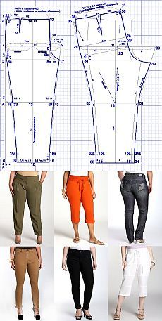 """Выкройка брюк для """"роскошных"""" женщин: Шьем сами: Группы - diets.ru"""