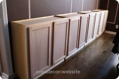 Check out this Using upper cabinets for the base of built-in bookcases.  What a great idea!  The post  Using upper cabinets for the base of built-in bookcases.  What a great idea!…  appeared first on  ..