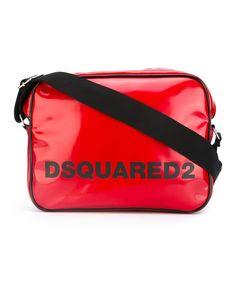 DSQUARED2 Dsquared2 Men'S  Black/Red Polyurethane Messenger Bag'. #dsquared2 #bags #shoulder bags #