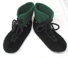 Ravelry: Laced Slippers pattern by Gerd Fjellanger cool lace up boots