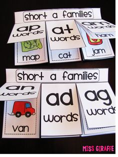 Short A Activities and Resources (including freebies!) like this book kids make to sort words by short vowels word families