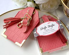 high style luggage tag wedding favors cheapbridal shower