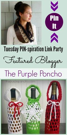 Tuesday PIN-spiration Link Party Featured Blogger - The Purple Poncho   www.thestitchinmommy.com