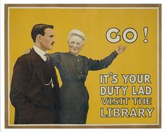 I love vintage library posters. :)