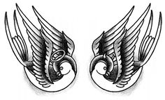 Angel and Devil Tattoos | Swallows Angel And Devil Tattoo