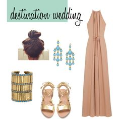 what to wear to a beach wedding, created by charitizzle on Polyvore