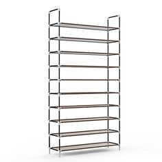Sable 10 Tiers 50 Pairs Shoe Rack, Space Saving Shoe Organizer, Tower Shelf Storage, Non-woven Fabric Shoe Cabinet, Easy to Assemble - No Tools Required - Store up to 50 Pairs of ShoesShoes are fun to shop for, fashionable to match, essential to walk, but they surely take up some valuable space in your home. The Sable Shoe Organizer provides 10 spacious tiers that can house up to 50 pairs of shoes. Arrange up to 5 pairs of women's shoes or 4 pairs ...