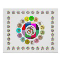 OM Mantra - Ommantra : Customize background color Poster