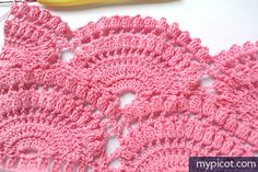 my picot crochet pattern | Repeat row 2 – 9 until you have reached your desired length. For row ...