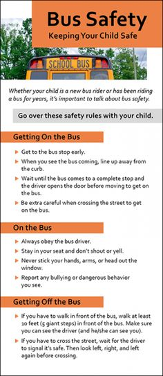 Provide your students and parents with safety rules for riding a bus, as well as rules for getting o Safety Rules For Kids, Safety Week, Safety Tips, School Bus Driving, School Bus Safety, Safe Schools, Happy New Year Wishes, Rack Card, Bus Life