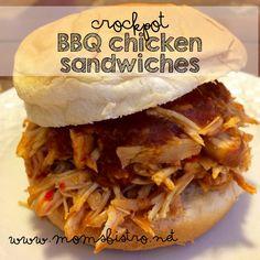 Super Easy Kid-Friendly Crockpot BBQ Chicken Sandwiches Recipe And An Easy Homemade Brown Sugar BBQ Sauce - Mom's Bistro