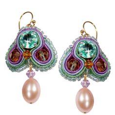 Traumhafte Soutache Ohrringe ♥ Beautiful Soutache Earrings ♥ Gefunden auf www.perlotte.de #perlotte #soutache