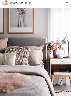 Chouette idee deco chambre adulte rose et gris, amenagement petite chambre tenda. Nice idea for a pink and gray adult bedroom decor, small trendy bedroom layout 2018 in decoration Bedroom Inspo, Adult Bedroom Ideas, Bedroom Ideas For Small Rooms For Adults, Design Bedroom, Bedroom Inspiration, Bedroom Ideas For Women Cozy, Young Adult Bedroom, Kids Rooms, Bedroom Styles