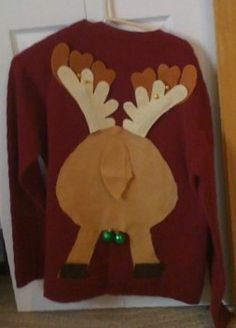 A great idea for an ugly sweater party... reindeer jingle balls.