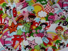anime book fabric   Messenger Fold Over Asian Kawaii Toki Doki Anime Print Shoulder Bag