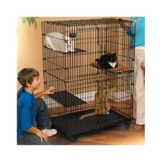 Cat-Playpen-Kennel-Kitty-Condo-Indoor-Pet-Cage-Bed-House-Outdoor-Shelter-Crate