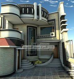 For many living in a modern house is of great importance. The house is a part of art, it is a three-dimensional sculpture,' he states. Unique House Design, House Front Design, Cool House Designs, Bungalow House Design, 3d Home, Dream House Exterior, Villa Design, Modern House Plans, Facade House