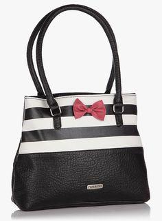 9ab4f18107 Buy Peperone Black Handbag for Women Online India