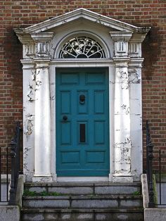Cerulean Blue Door: Ballsbridge, Dublin, Ireland / photo by Just_Bernard