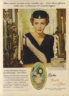 profound feline: | Fanciful Friday | Vintage Cosmetics Advertising | Revlon | Elizabeth Arden | Coty | Helena Rubenstein |