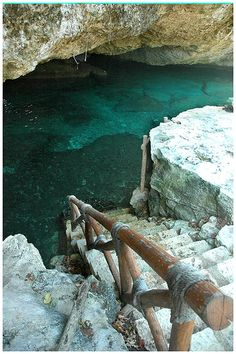 Xcaret underground river, Mexico. Part of Xcaret Ecological Park.