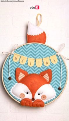 In this course you will learn will be taught new techniques such as filling … Felt Crafts, Diy And Crafts, Arts And Crafts, Felt Baby, Felt Decorations, Embroidery Hoop Art, Felt Toys, Felt Ornaments, Baby Decor
